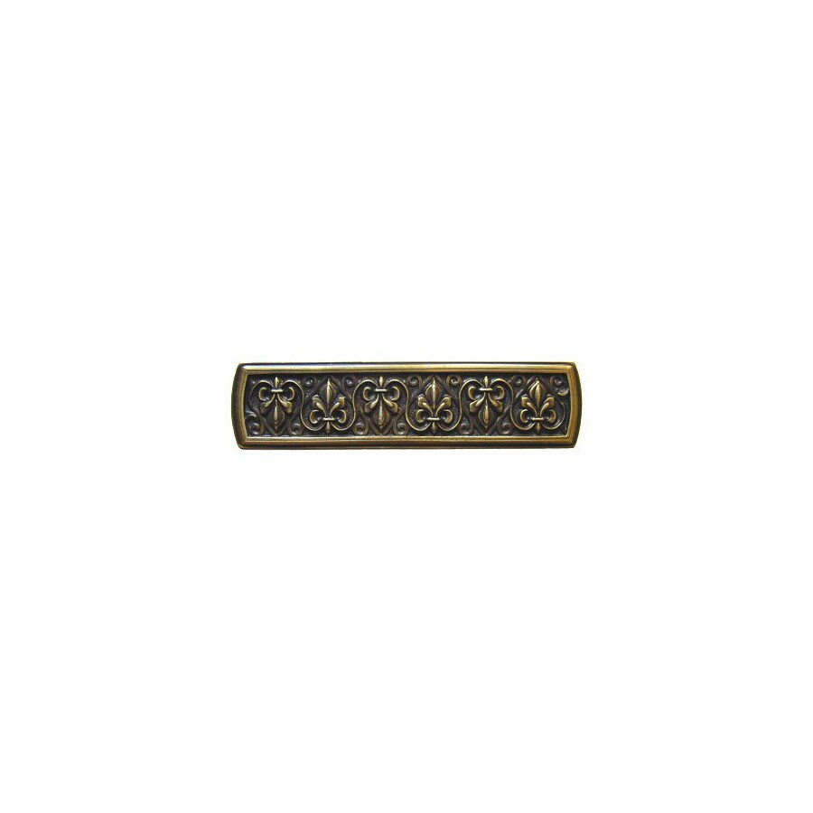 Notting Hill 3-in Center-to-Center Antique Brass Olde World Rectangular Cabinet Pull