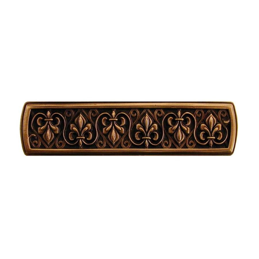 Notting Hill 3-in Center-to-Center Antique Copper Olde World Rectangular Cabinet Pull