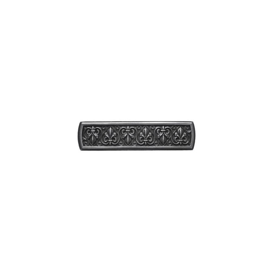Notting Hill 3-in Center-to-Center Antique Solid Pewter Olde World Rectangular Cabinet Pull