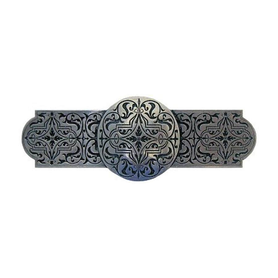 Notting Hill 3-in Center-To-Center Brilliant Pewter Olde World Renaissance Bar Cabinet Pull