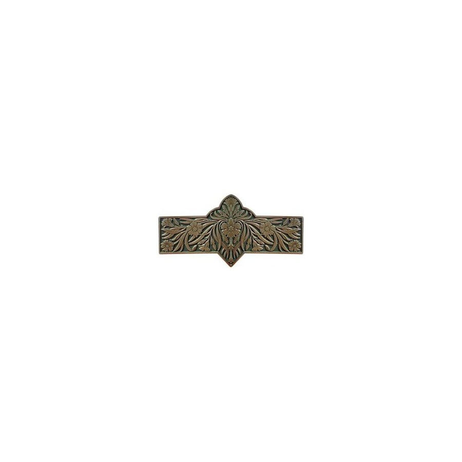 Notting Hill 3-in Center-to-Center Antique Brass English Garden Cabinet Pull