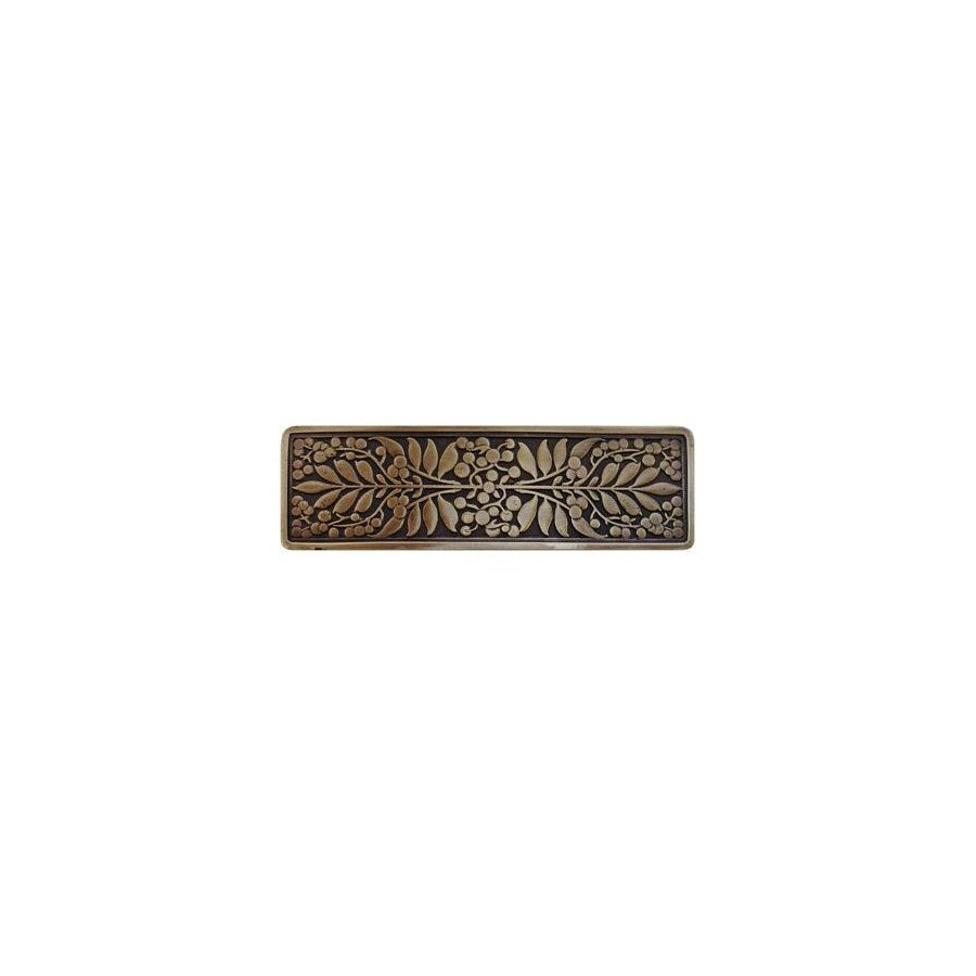Notting Hill 3-in Center-to-Center Antique Brass English Garden Rectangular Cabinet Pull