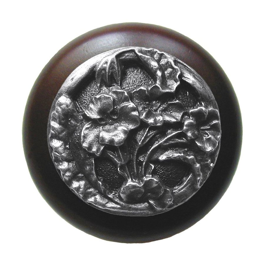 Notting Hill 1-1/2-in Pewter Floral Round Cabinet Knob