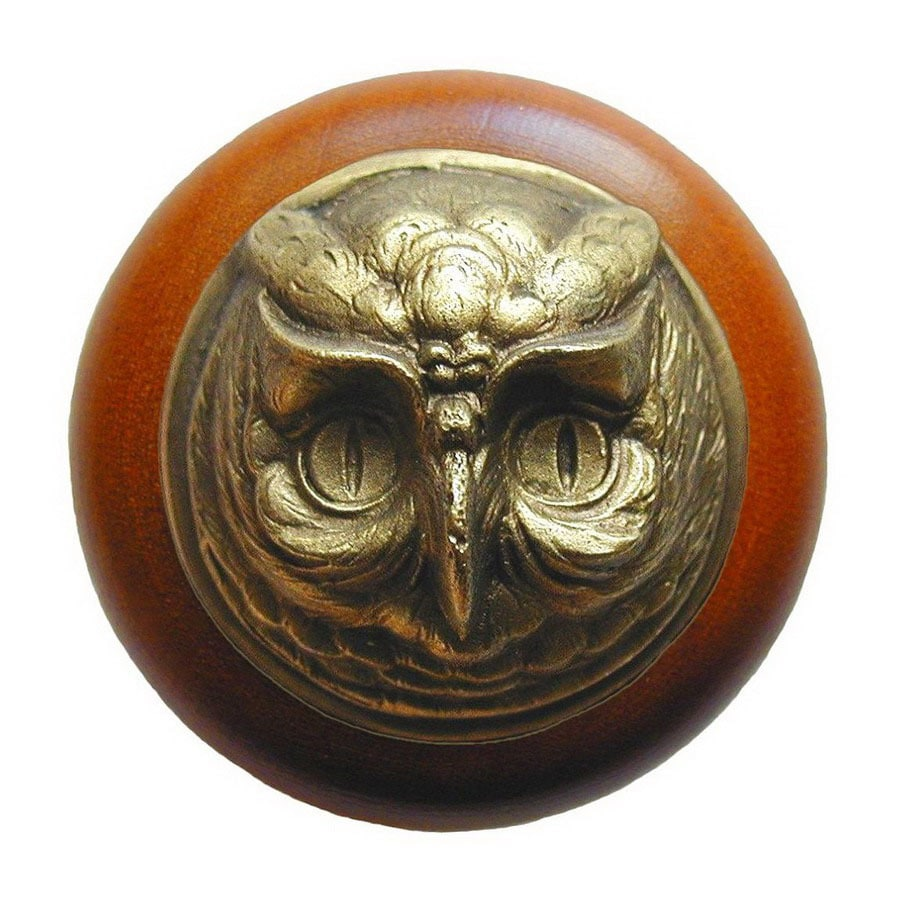 Notting Hill 1-1/2-in Brass Great Outdoors Round Cabinet Knob