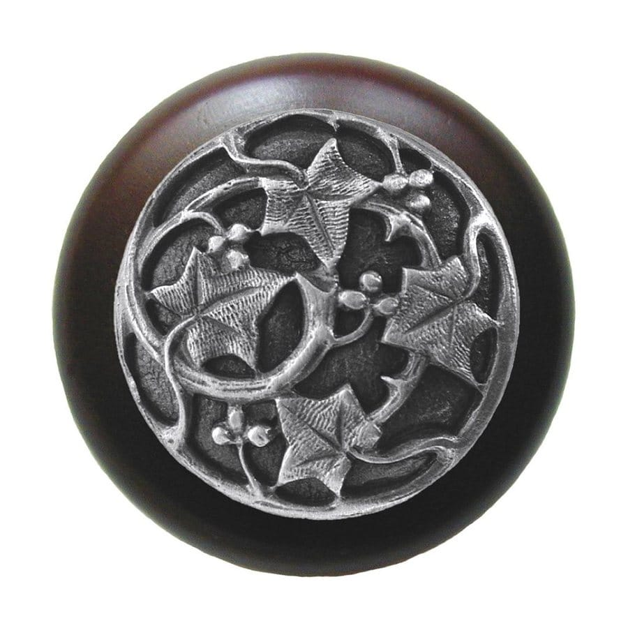 Notting Hill 1-1/2-in Pewter Leaves Round Cabinet Knob