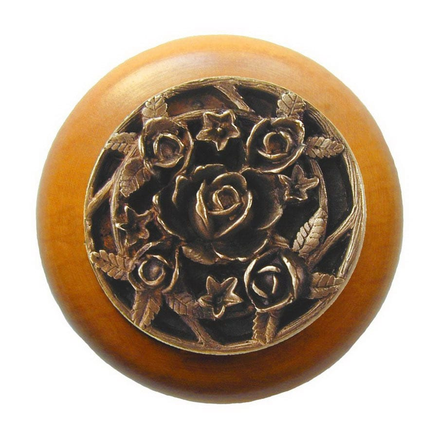 Notting Hill 1-1/2-in Brass Floral Round Cabinet Knob