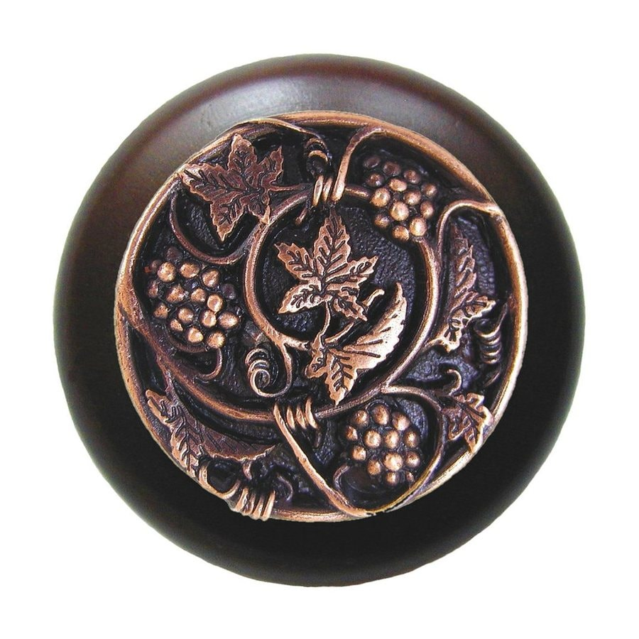 Notting Hill Tuscan Grapevines Dark Walnut/Antique Copper Round Cabinet Knob
