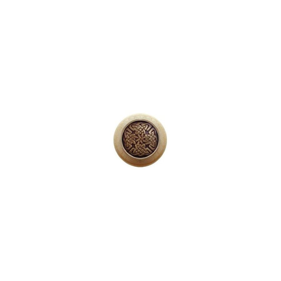 Notting Hill 1-1/2-in Brass Jewel Round Cabinet Knob
