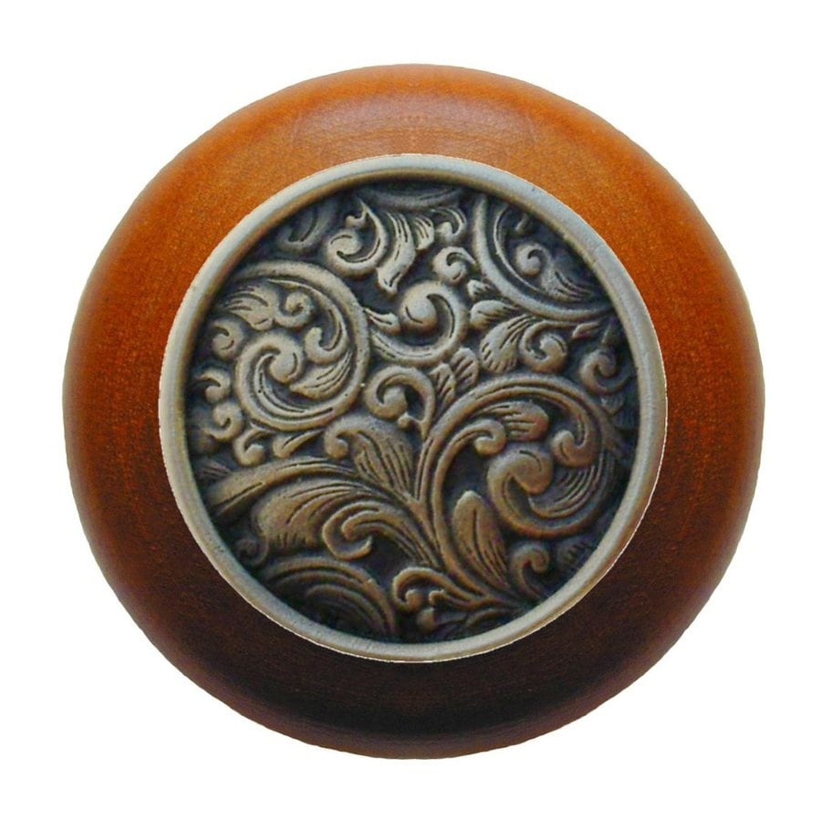 Notting Hill Sadddleworth Cherry/Antique Bronze Round Cabinet Knob