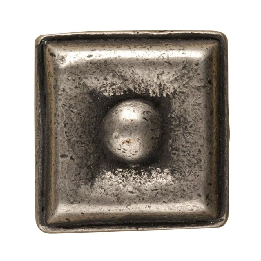 Anne at Home Square Matte Pewter Square Cabinet Knob