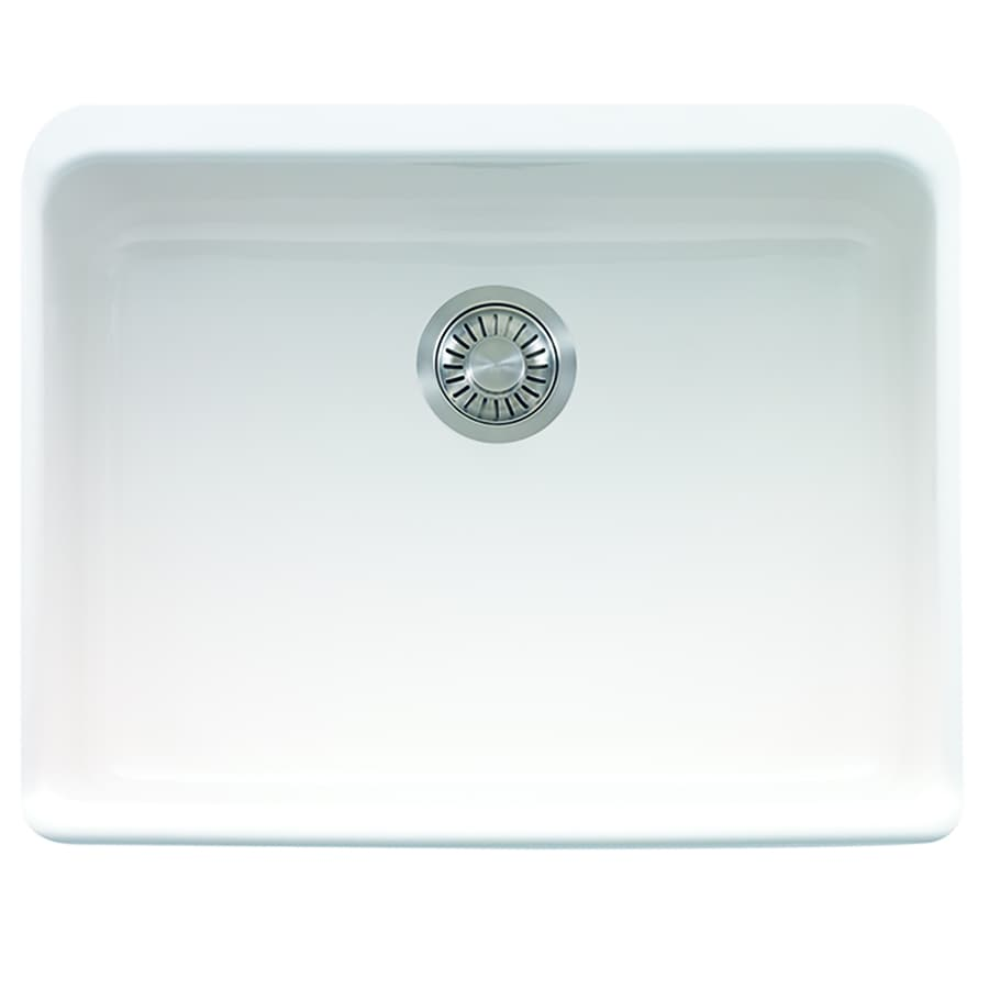Franke Manor House 19.875-in x 23.625-in White Single-Basin Fireclay Apron Front/Farmhouse Residential Kitchen Sink