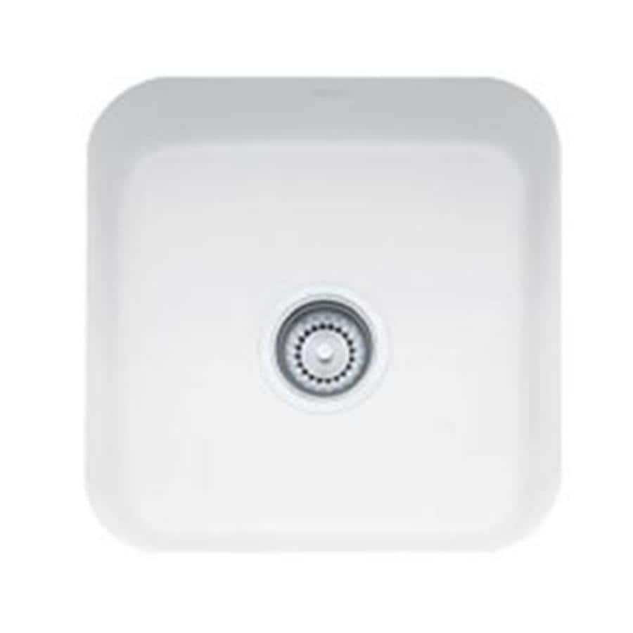 Franke White Composite Sink : Shop Franke Cisterna White Fireclay Undermount Residential Bar Sink at ...