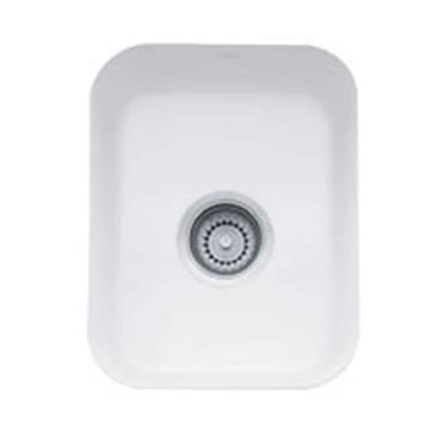 Franke Bar Sink : Shop Franke Cisterna White Fireclay Undermount Residential Bar Sink at ...