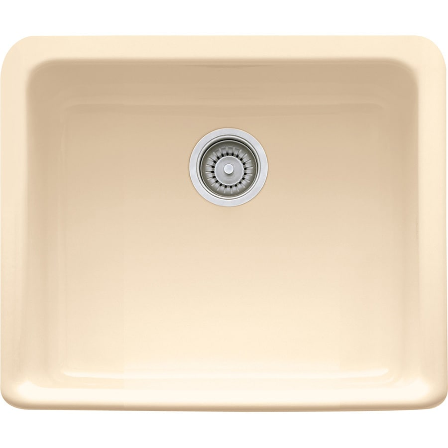 Franke Manor House 16-in x 19.5-in Biscuit Single-Basin Fireclay Apron Front/Farmhouse Residential Kitchen Sink