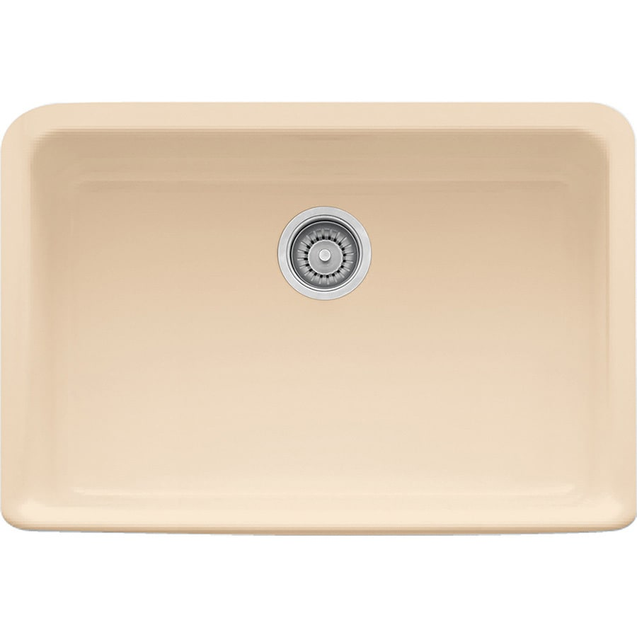 Franke Manor House 19.875-in x 27.125-in Biscuit Single-Basin Fireclay Apron Front/Farmhouse Residential Kitchen Sink