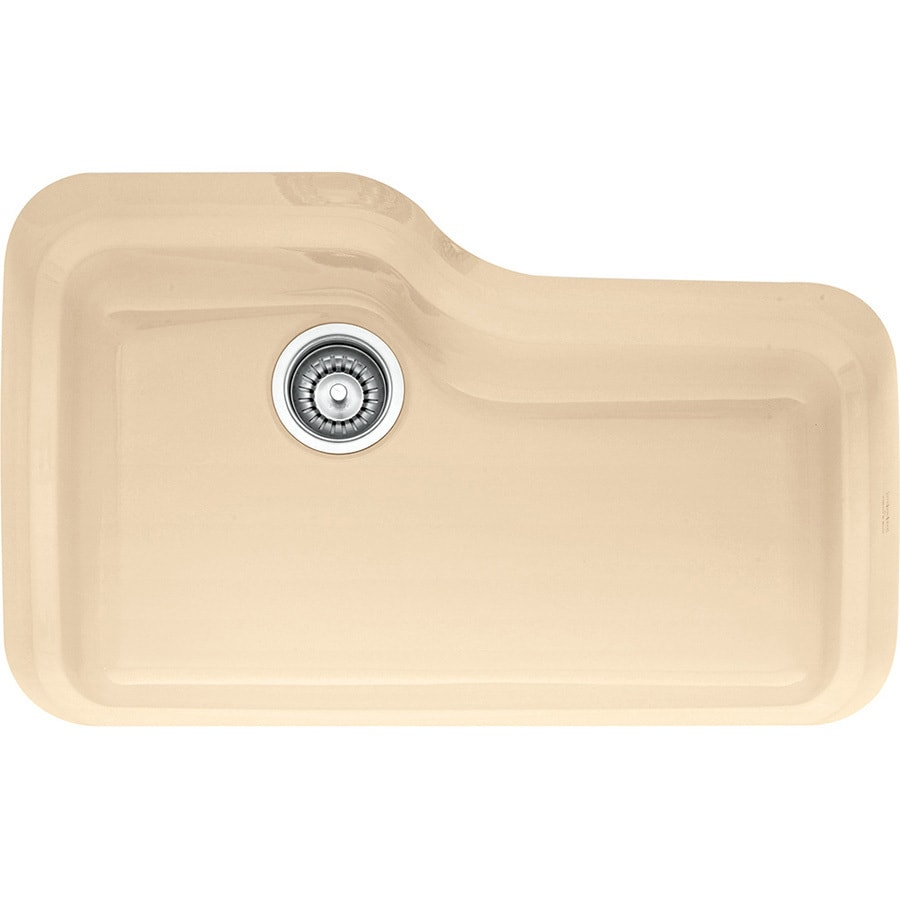 Franke Orca 19.5-in x 29.875-in Biscuit Single-Basin Fireclay Undermount Residential Kitchen Sink