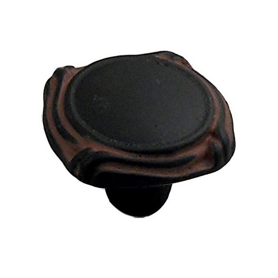 Anne at Home Mai Oui Black with Terra Cotta Wash Novelty Cabinet Knob