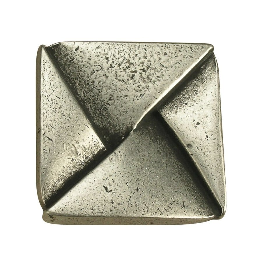 Anne at Home Contemporary Matte Pewter Square Cabinet Knob