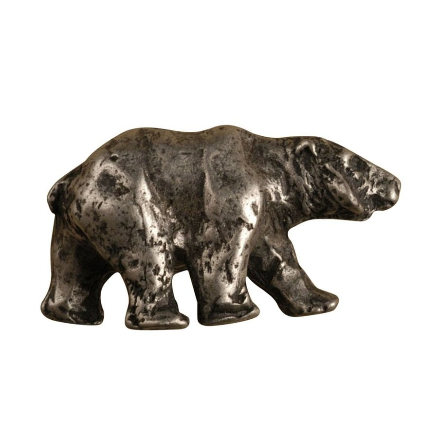 Anne at Home Animals Matte Pewter Novelty Cabinet Knob