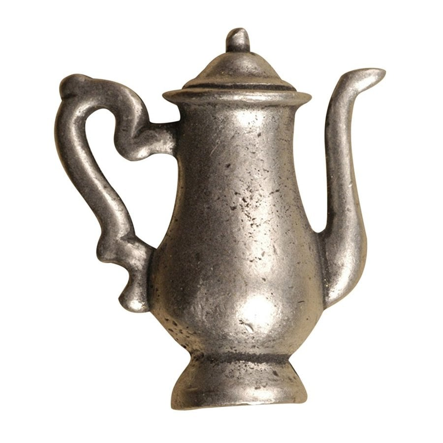 Anne at Home Coffee and Tea Matte Pewter Novelty Cabinet Knob