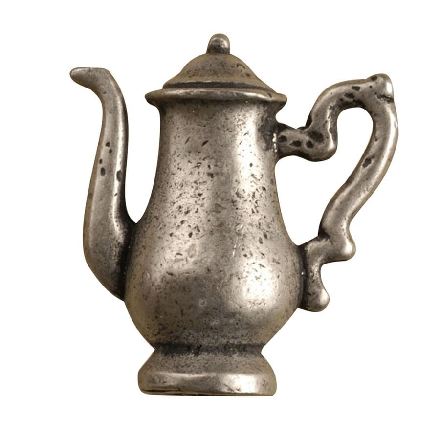 Anne at Home Coffee and Tea Pewter Matte Novelty Cabinet Knob