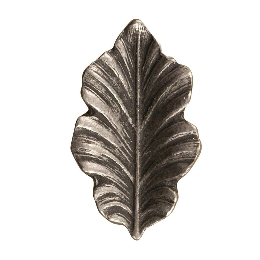 Anne at Home Leaves Matte Pewter Novelty Cabinet Knob