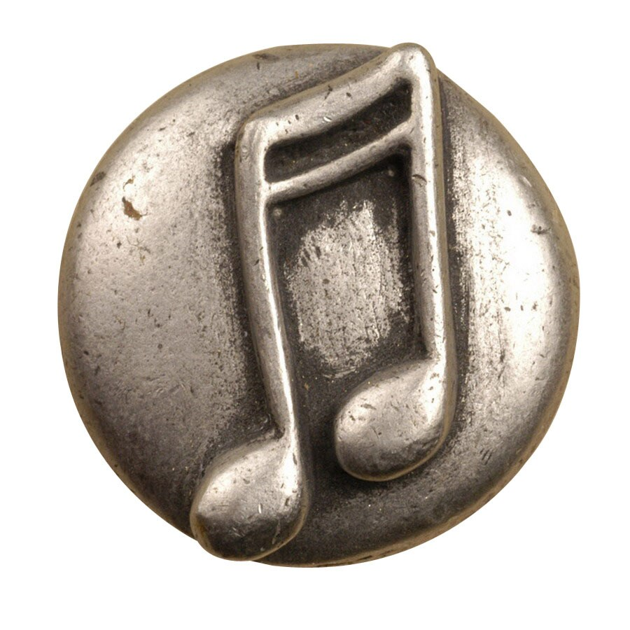 Anne at Home Music Initials Sports Pewter Matte Round Cabinet Knob