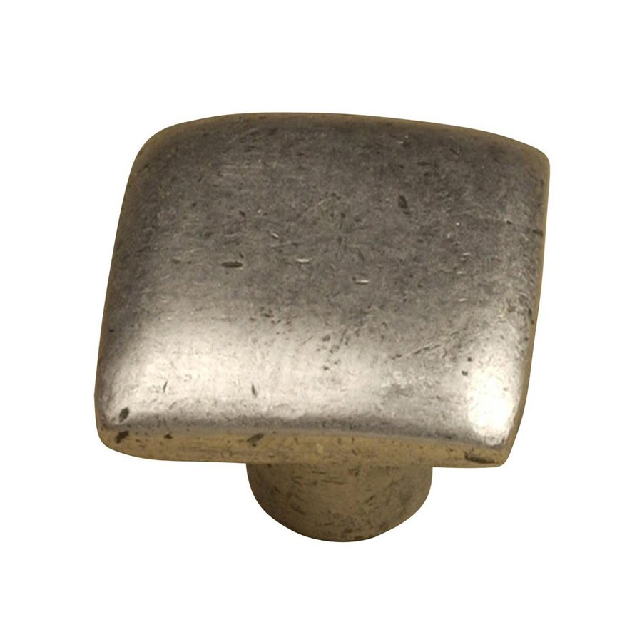 Anne at Home Contemporary Pewter Matte Square Cabinet Knob