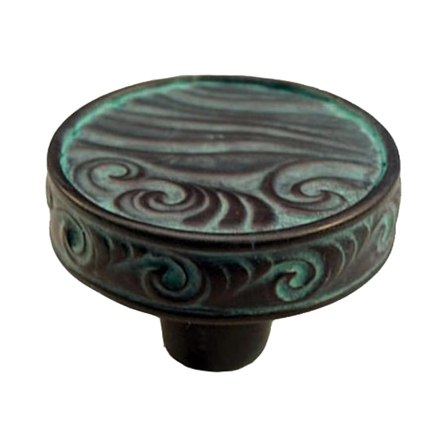 Anne at Home Pacific Dreams Verdigris Round Cabinet Knob