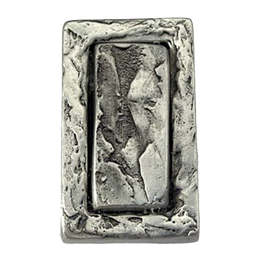 Anne at Home Pacific Dreams Matte Pewter Rectangular Cabinet Knob