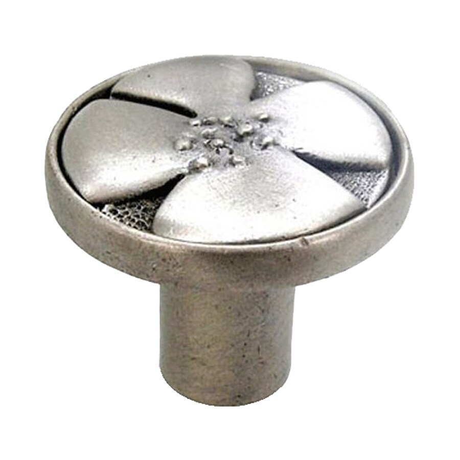 Anne at Home Bloom Satin Pewter Round Cabinet Knob