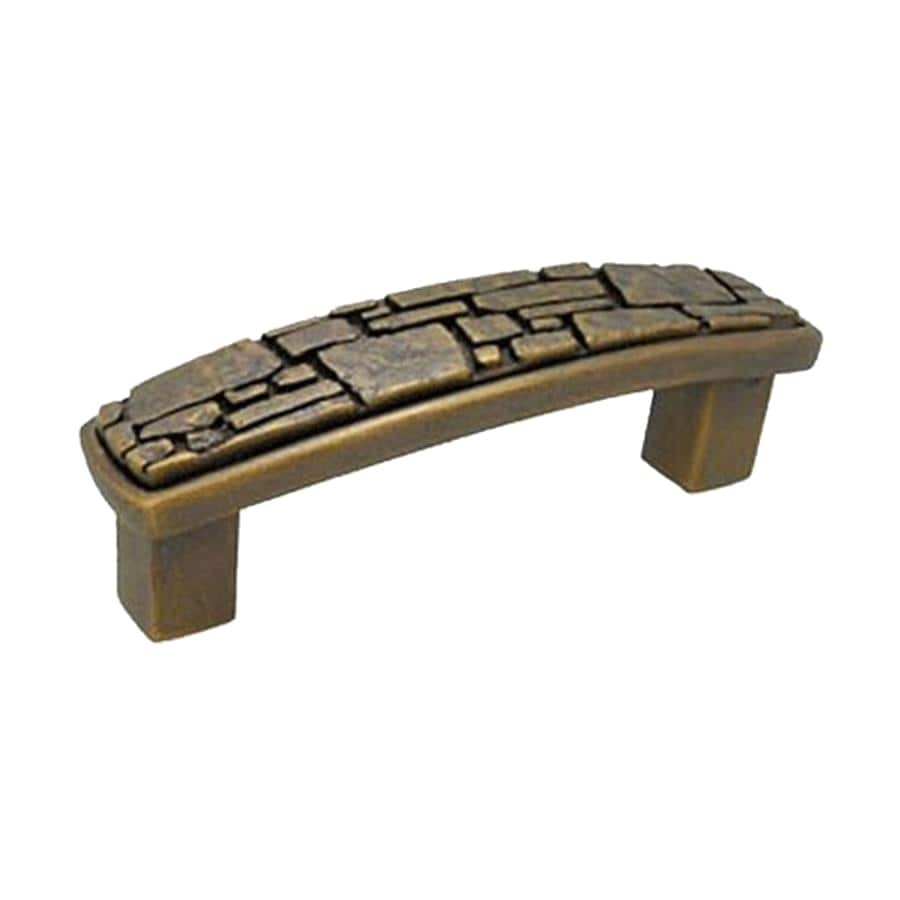 Anne at Home 3-In Center-To-Center Bronze Rubbed Fieldstone Arched Cabinet Pull