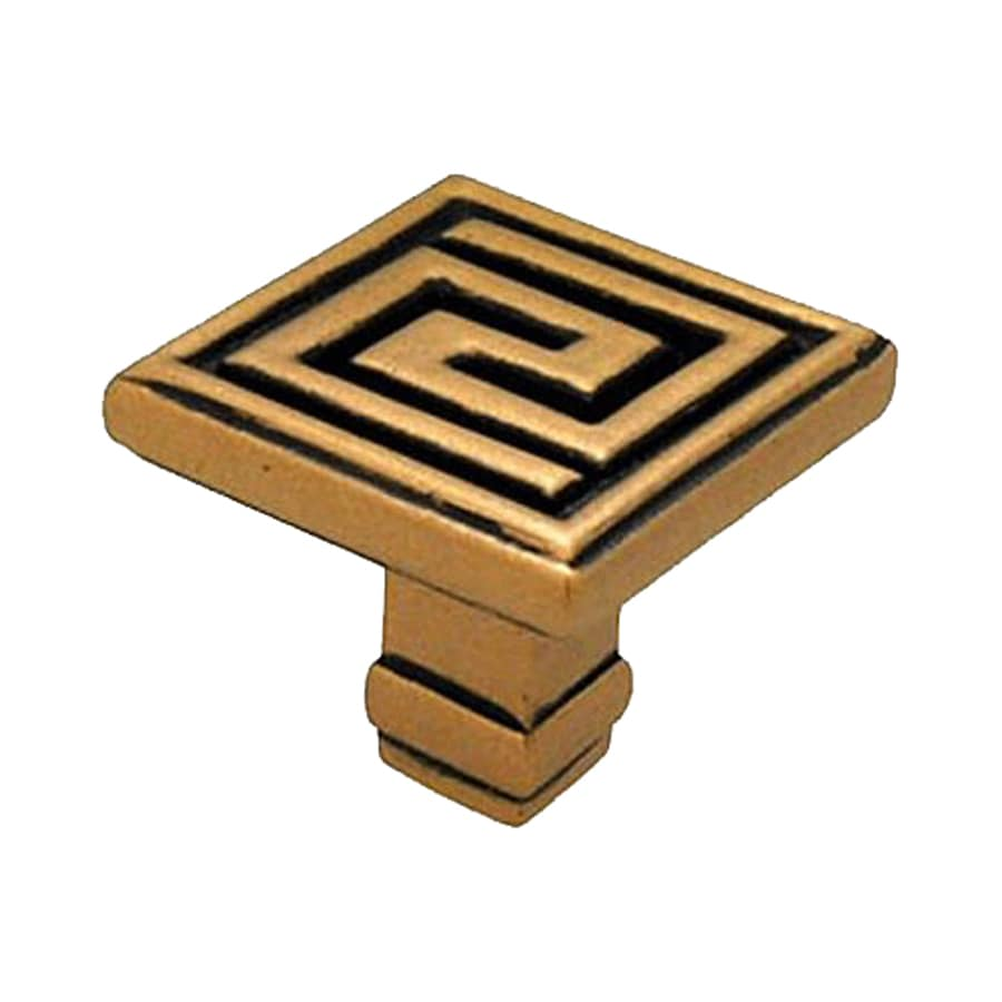 Anne at Home Greek Key Antique Gold Square Cabinet Knob