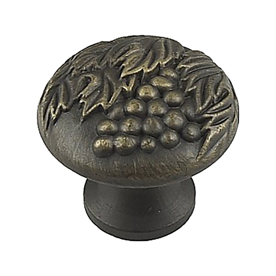 Century Hardware Vineyard Antique Light Brass Mushroom Cabinet Knob
