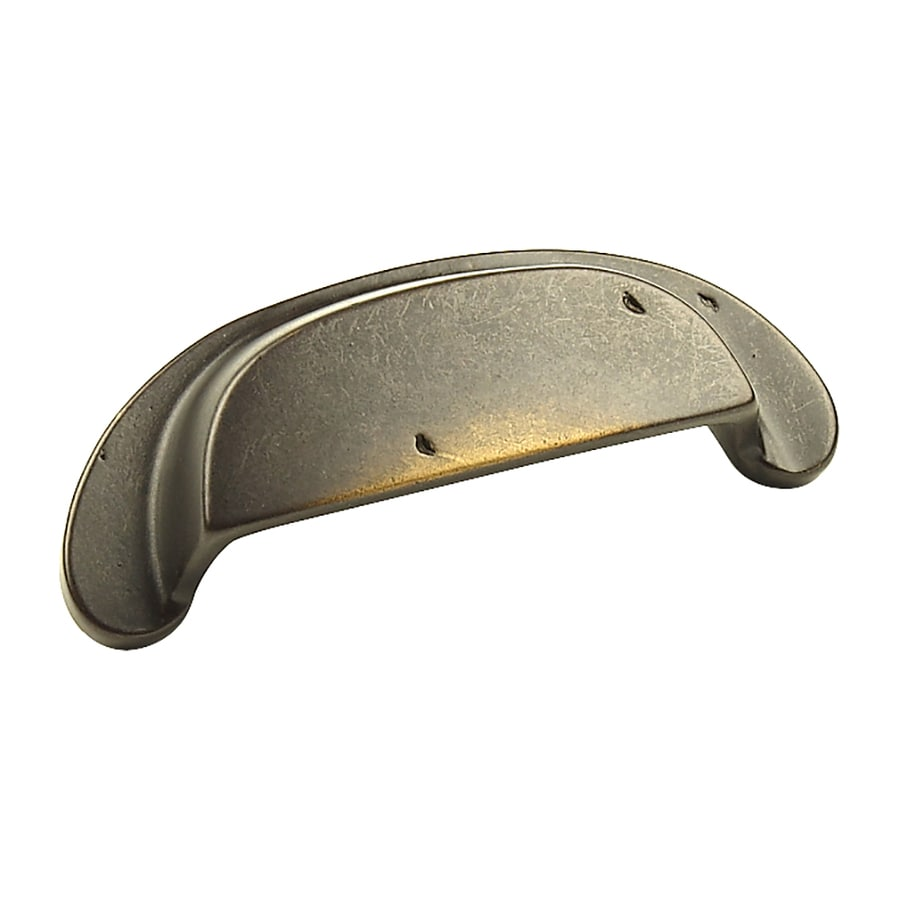 Century Hardware 3-1/2-in Center-to-Center Aged Bronze Whistler Cup Cabinet Pull