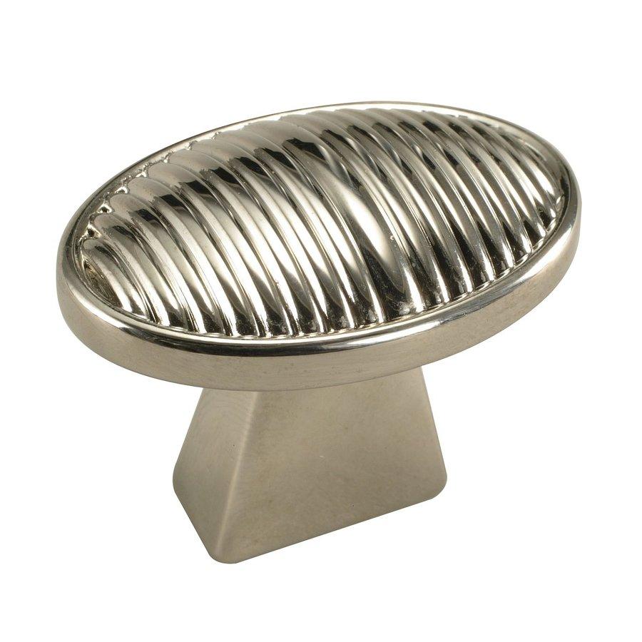 Century Hardware Athena Polished Nickel Oval Cabinet Knob