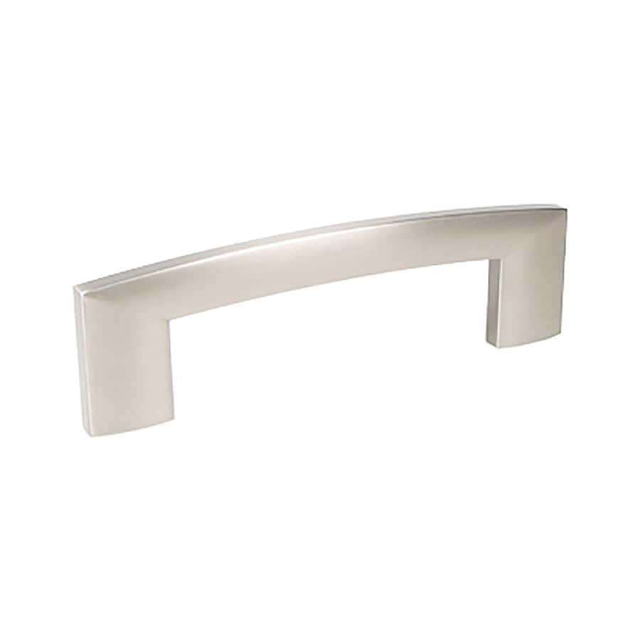 Century Hardware 4-in Center-To-Center Dull Satin Nickel Villon Rectangular Cabinet Pull