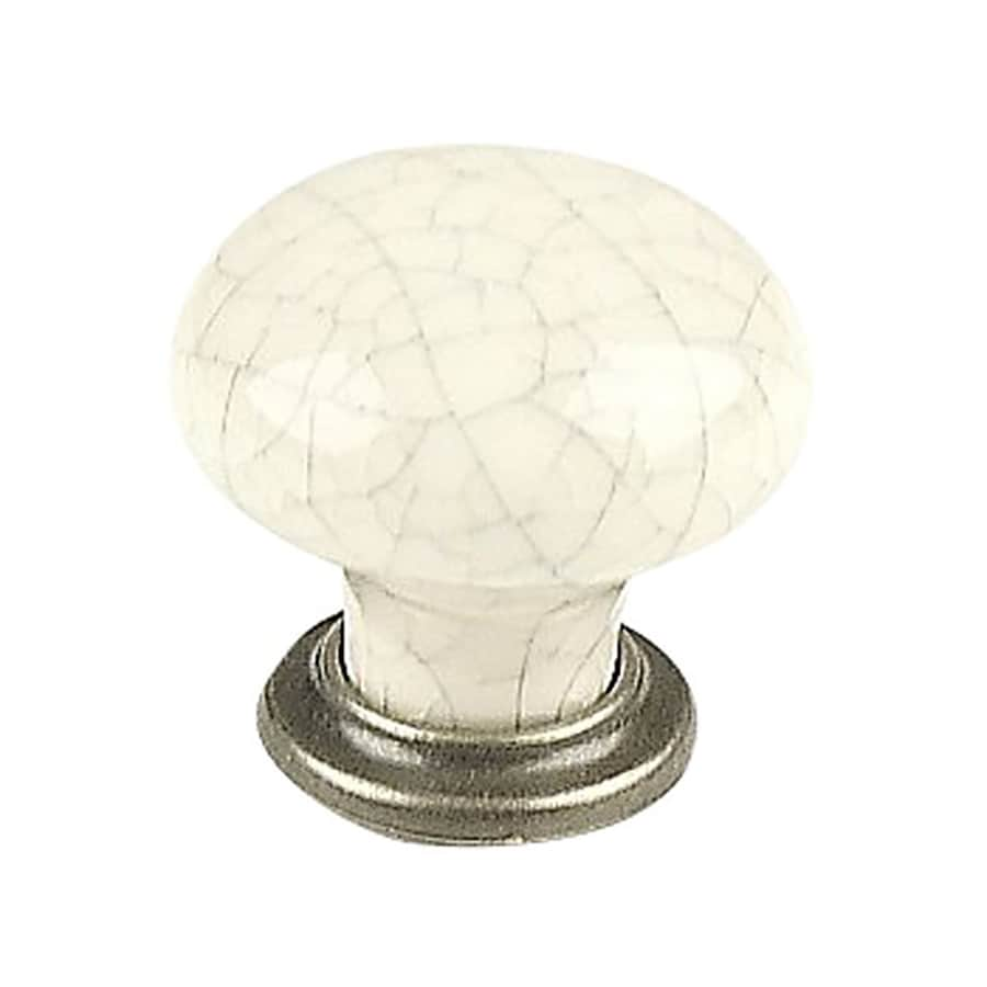 Century Hardware Nordic Antique Pewter/Grey Crackle Mushroom Cabinet Knob