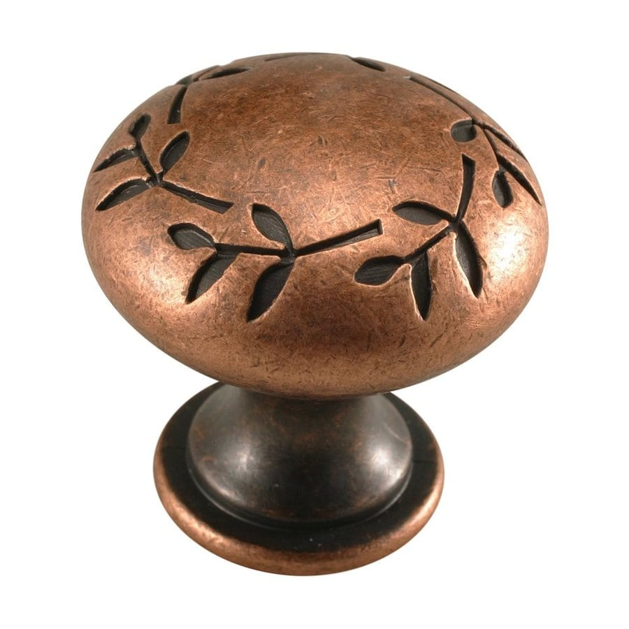 Century Hardware Hamilton Aged Copper/Antique Copper Mushroom Cabinet Knob