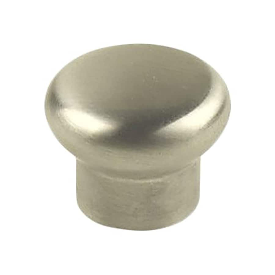 Century Hardware Stainless Brushed Stainless Steel Mushroom Cabinet Knob