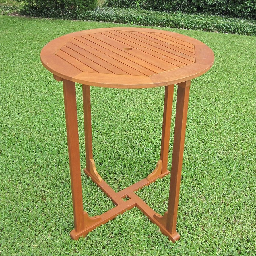 International Caravan Royal Tahiti 35.5-in W x 35.5-in L Round Bar Table