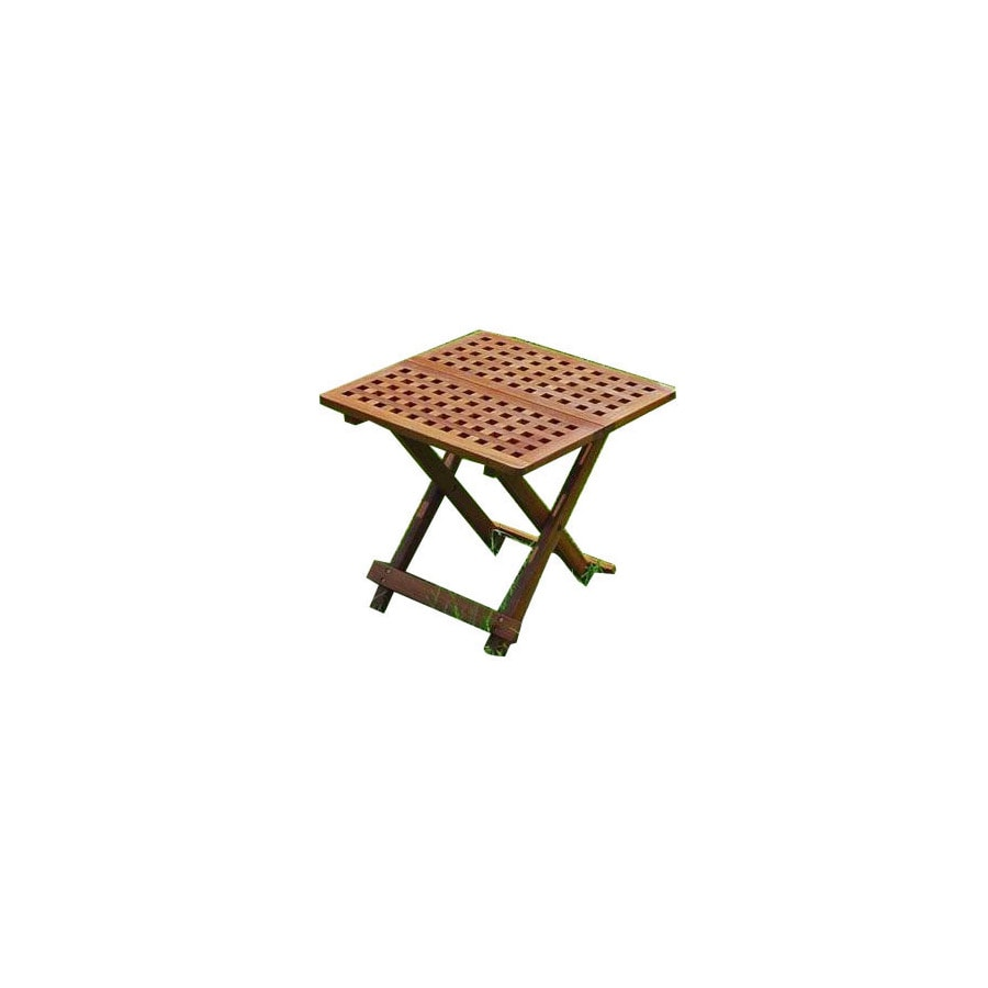 International Caravan 20-in x 20-in Oil/Acacia Wood Square Patio Side Table
