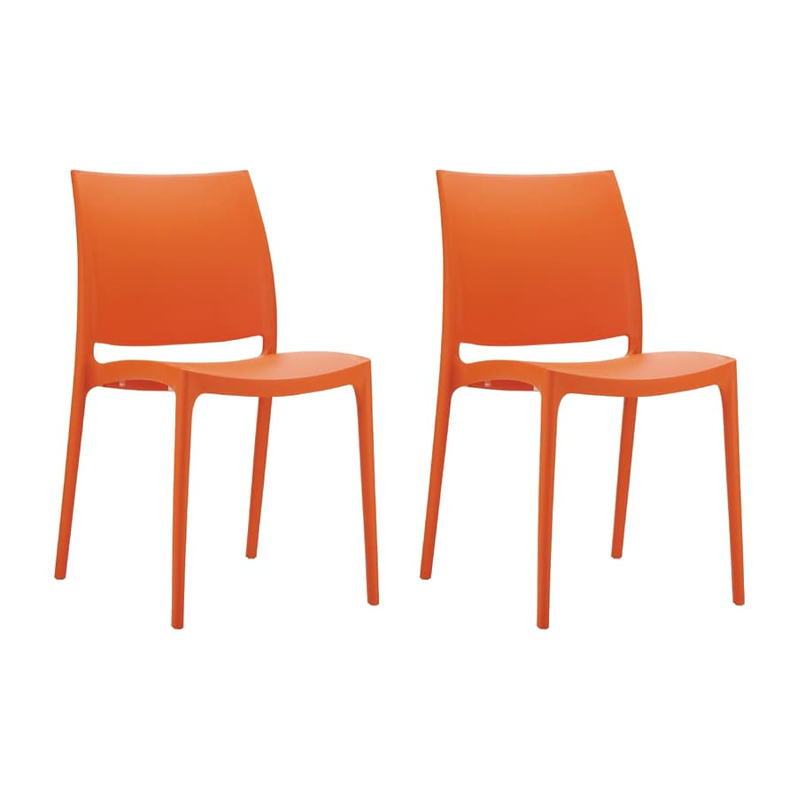 Compamia Maya Stackable Set Of 2 Resin Dining Chairs