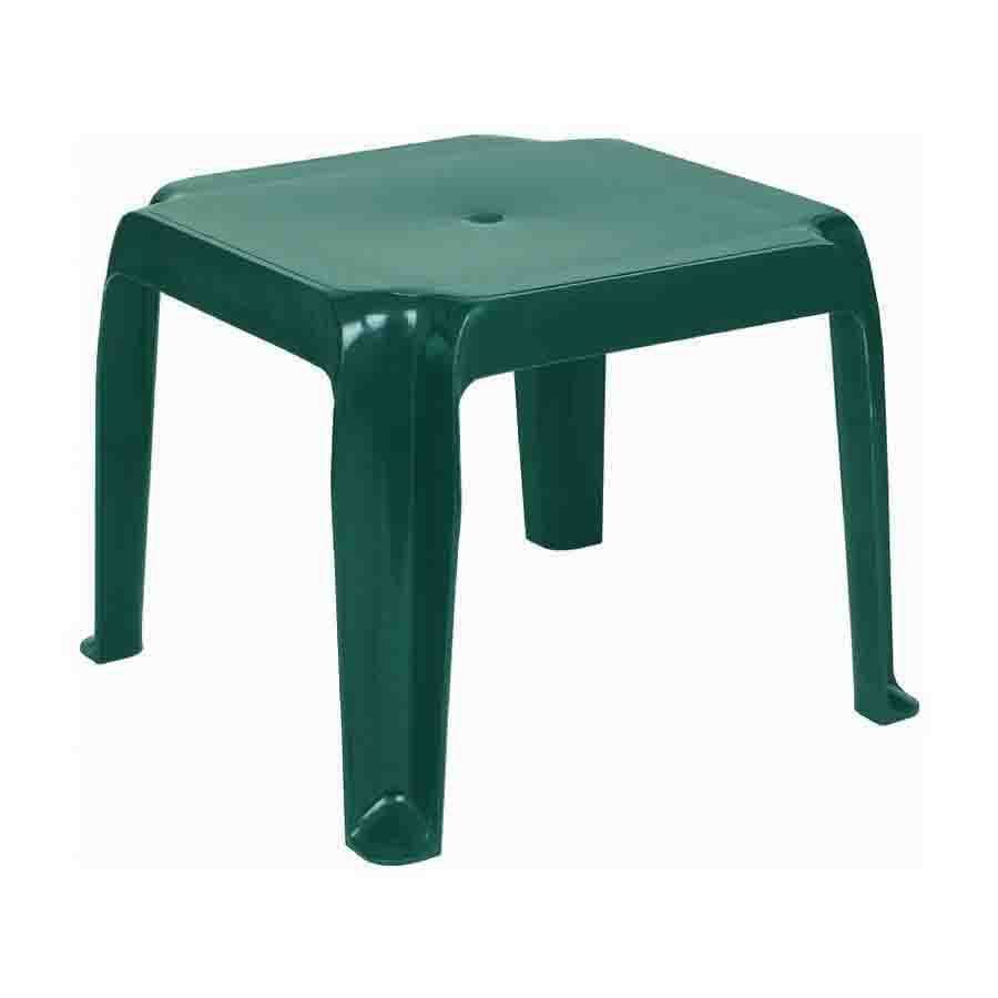 Compamia 16-in x 16-in Green Resin Square Patio Side Table