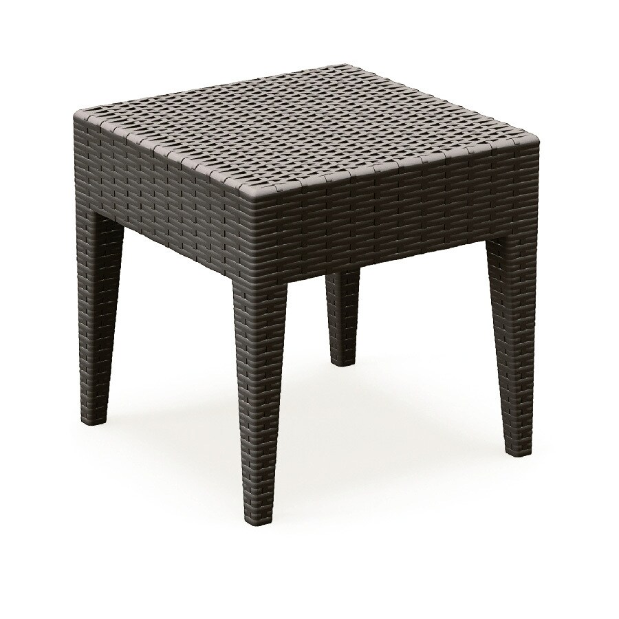 Compamia Miami Wickerlook 18-in W x 18-in L Square Wicker End Table