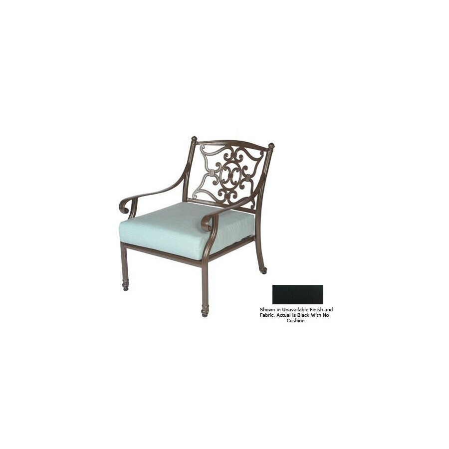 Shop Meadow Decor Black Mesh Seat Aluminum Patio Dining Chair At
