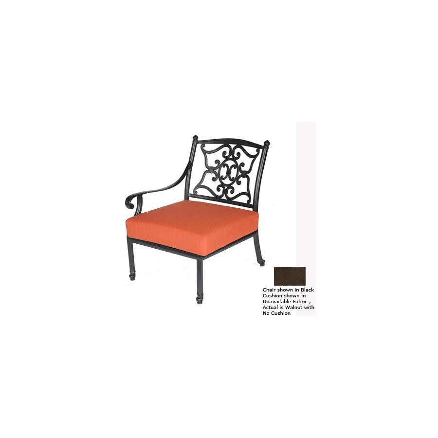 Shop Meadow Decor Walnut Aluminum Mesh Patio Chair At Lowes Com