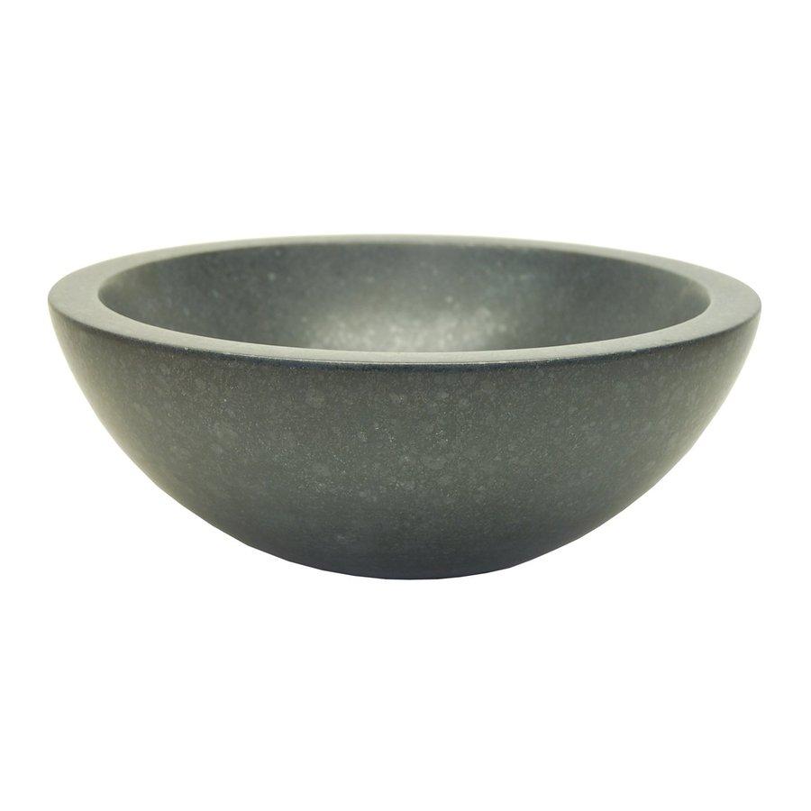 Eden Bath Black Stone Vessel Round Bathroom Sink