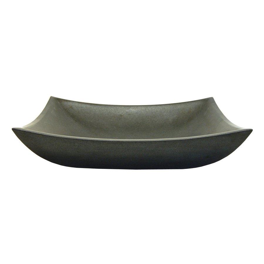 Eden Bath Stone Black Basalt Vessel Rectangular Bathroom Sink
