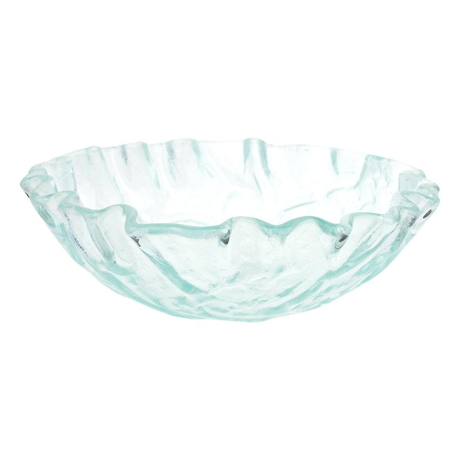 Shop Eden Bath Clear Glass Vessel Round Bathroom Sink At